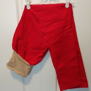 Motherhood Maternity skinny red pants